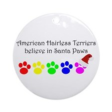American Hairless Terriers Believe Ornament (Round