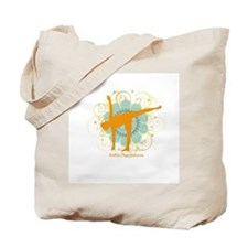Get it Om. Half Moon Yoga Pos Tote Bag