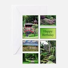 A birthday card with garden views Greeting Card