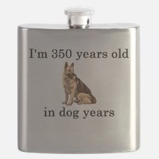 50 birthday dog years german shepherd Flask