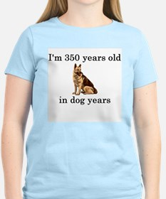 50 birthday dog years german shepherd T-Shirt