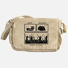 Eat Sleep Festival (black) Messenger Bag