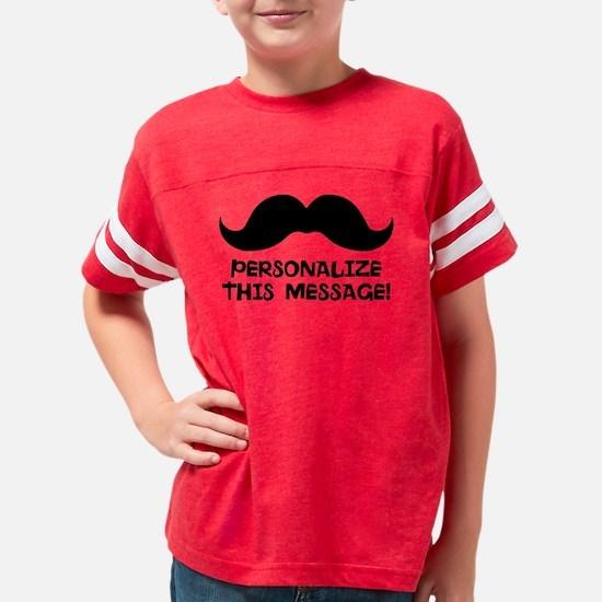 PERSONALIZED Cute Mustache Youth Football Shirt