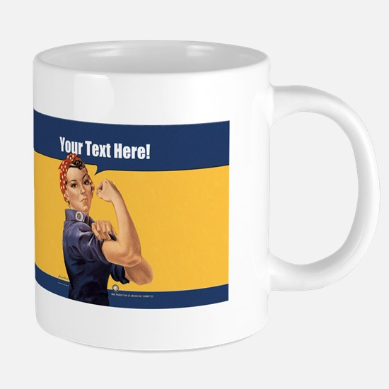 CUSTOM TEXT Vintage Rosie 20 oz Ceramic Mega Mug