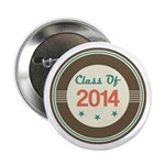 "Class of 2014 Vintage 2.25"" Button"