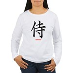 Japanese Samurai Kanji Women's Long Sleeve T-Shirt