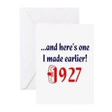 Made in 1927 Greeting Cards (Pk of 10)