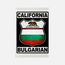 California Bulgarian American Rectangle Magnet
