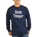 State Trooper (Front) Long Sleeve Dark T-Shirt