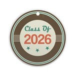 Class of 2026 Vintage Ornament (Round)