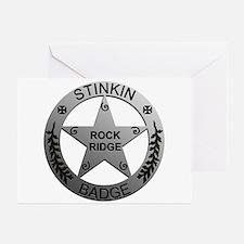 Stinkin Badge Greeting Cards (Pk of 10)