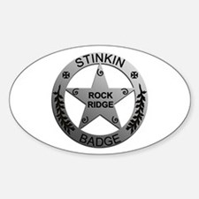Stinkin Badge Oval Decal