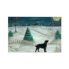 Winter Labrador Rectangle Magnet