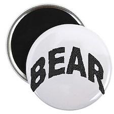 BEAR BLACK ARCHED LETTERS Magnet