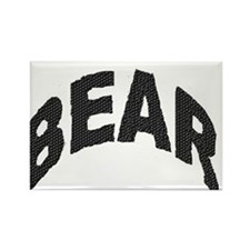 BEAR BLACK ARCHED LETTERS Rectangle Magnet