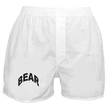 BEAR BLACK ARCHED LETTERS Boxer Shorts