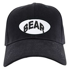 BEAR BLACK ARCHED LETTERS Baseball Hat