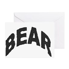 BEAR BLACK ARCHED LETTERS Greeting Cards 10 Pack