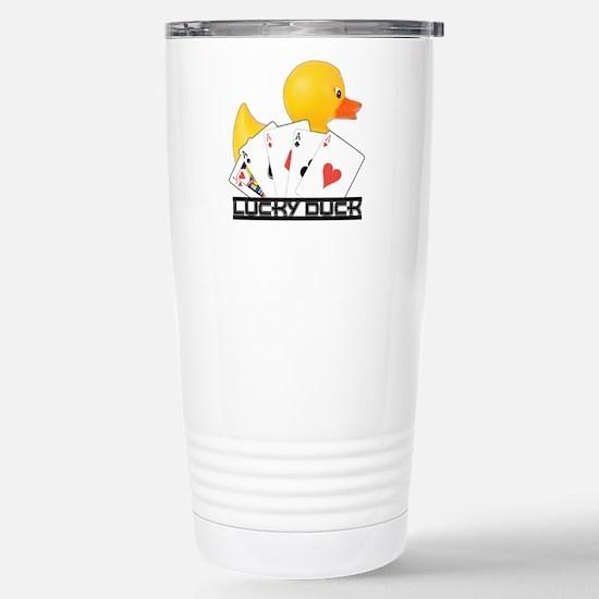 Lucky Duck Poker Stainless Steel Travel Mug