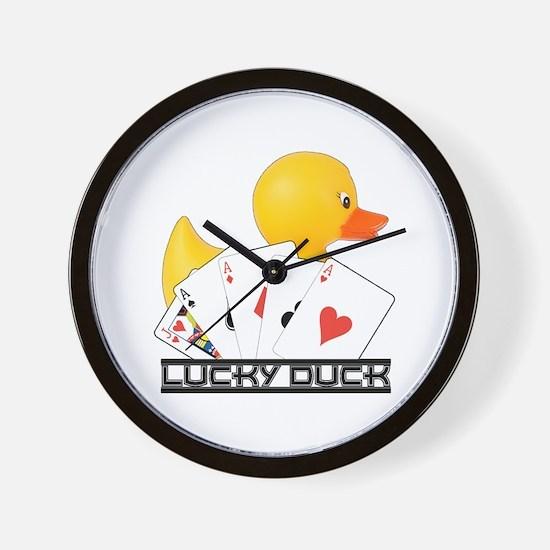 Lucky Duck Poker Wall Clock