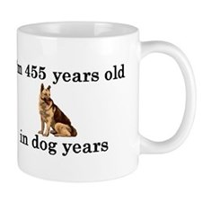 65 birthday dog years german shepherd 2 Mug