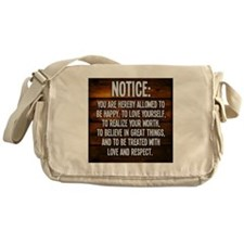 Notice Messenger Bag