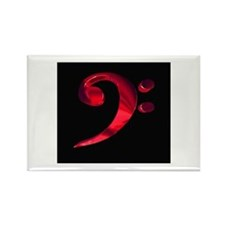 Bass Clef in Metal Rectangle Magnet