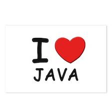 I love java Postcards (Package of 8)