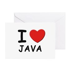 I love java Greeting Cards (Pk of 10)