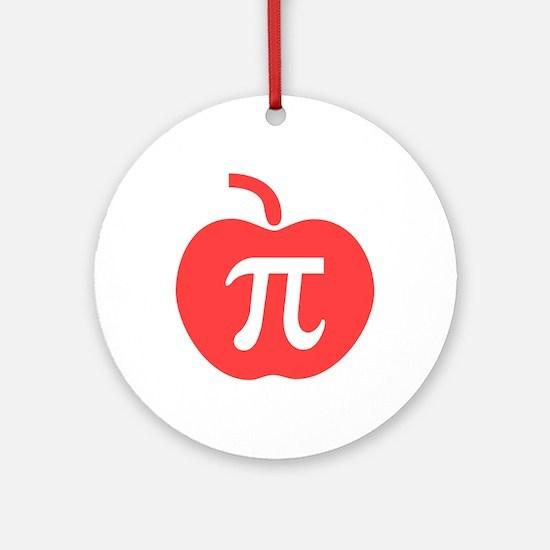 Apple Pi Ornament (Round)