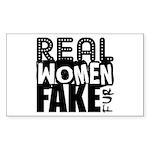 Real Women Fake Fur Sticker (Rectangle 10 pk)