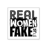 Real Women Fake Fur Square Sticker 3