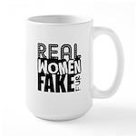 Real Women Fake Fur Large Mug