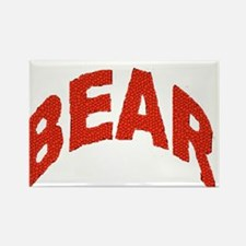 BEAR RED ARCHED LETTERS Rectangle Magnet