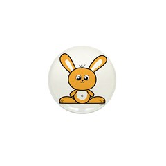 Yellow Bunny Mini Button (10 pack)