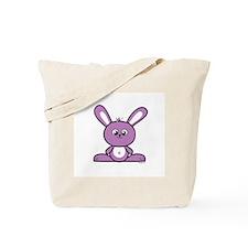 Purple Bunny Tote Bag
