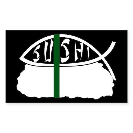 Sushi Fish II Rectangle Sticker
