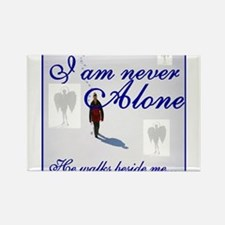 Never Alone Rectangle Magnet (10 pack)