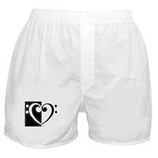 Bass Heart Music Boxer Shorts