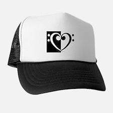 Bass Heart Music Trucker Hat
