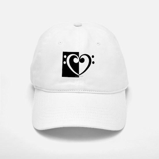 Bass Heart Music Baseball Baseball Cap