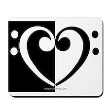 Bass Heart Music Mousepad