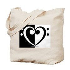 Bass Heart Music Tote Bag