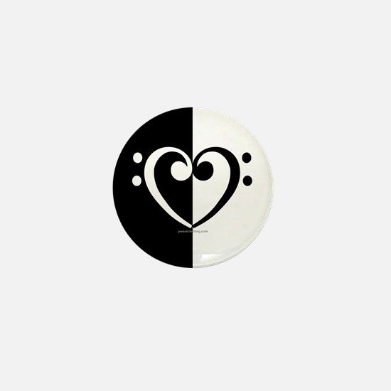 Bass Heart Music Mini Button