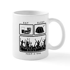 Eat Sleep Festival (black) Mug