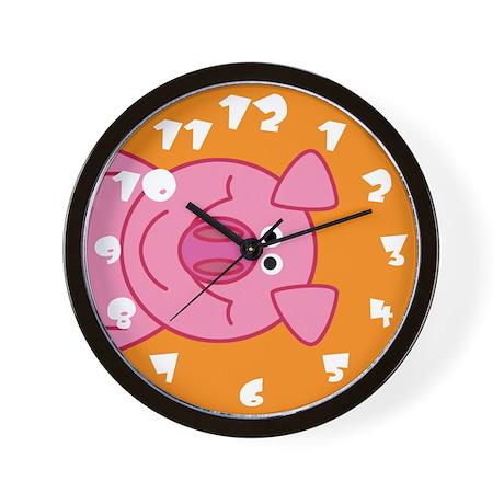 Happy Pig Wall Clock