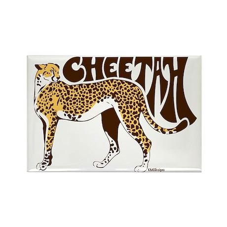 Cheetah Rectangle Magnet