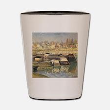 Seine at Asnieres by Claude Monet Shot Glass
