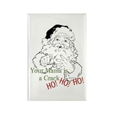 Santa Crack HO Rectangle Magnet