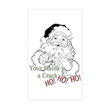 Santa Crack HO Rectangle Decal